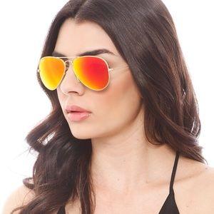 Ray bans 3025 mirror sunglasses